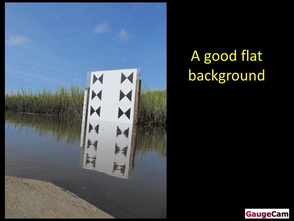 A good flat background