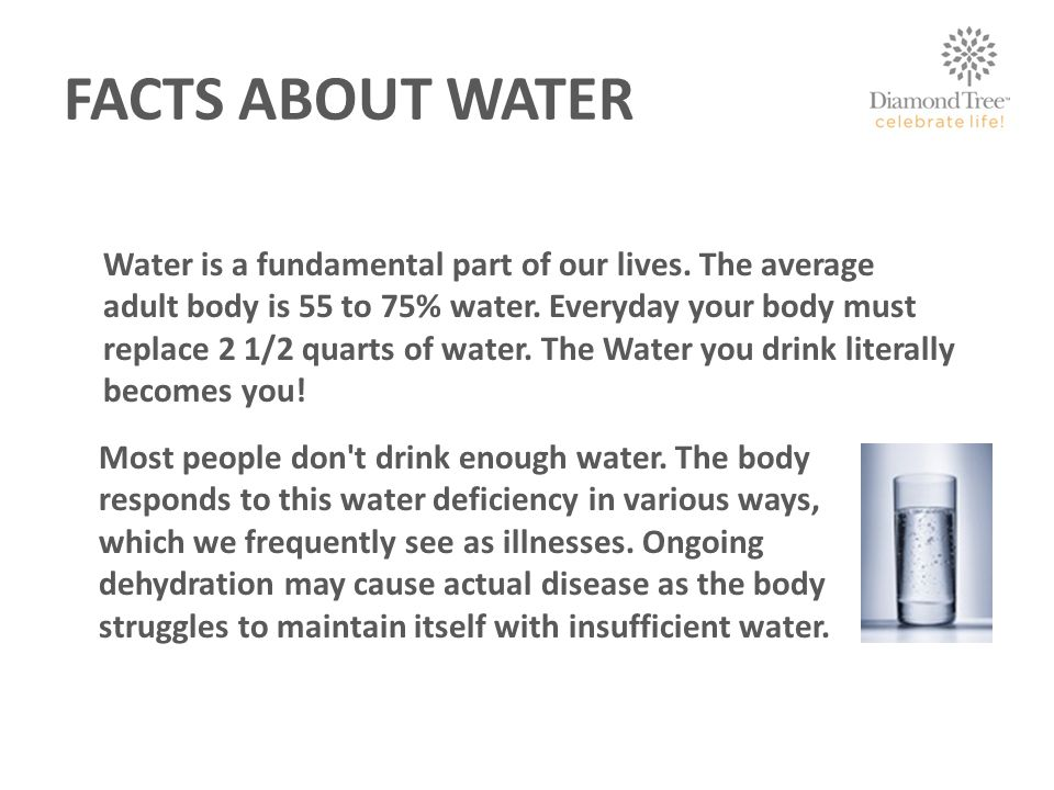 FACTS ABOUT WATER Water is a fundamental part of our lives.