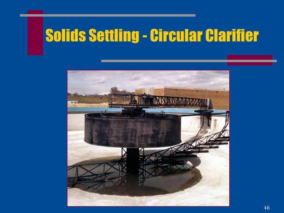 45 Solids Settling - Circular Clarifier