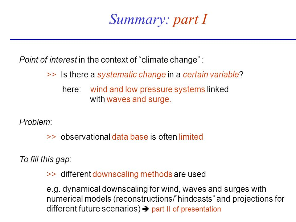 Point of interest in the context of climate change : >> Is there a systematic change in a certain variable? here: wind and low pressure systems linked