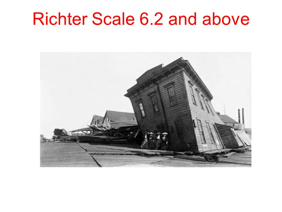 Richter Scale 6.2 and above