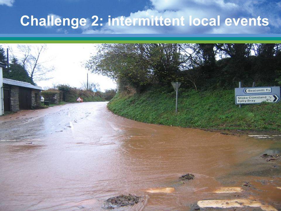 Challenge 2: intermittent local events
