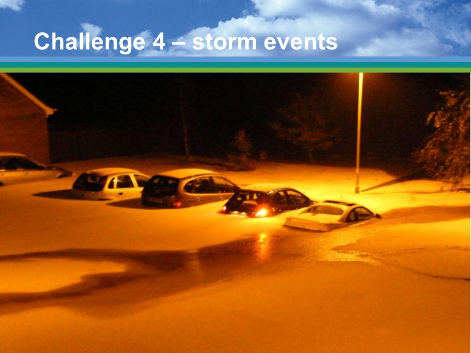 Challenge 4 – storm events
