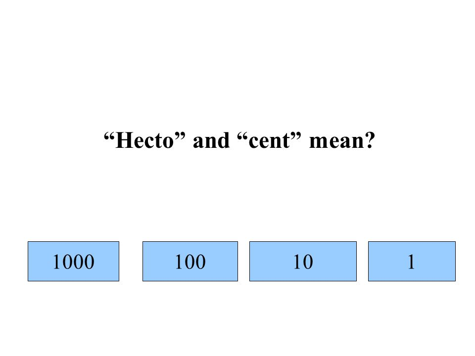 1000101001 Hecto and cent mean