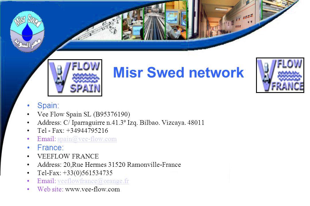 Misr Swed network Spain: Vee Flow Spain SL (B95376190) Address: C/ Iparraguirre n.41.3º Izq.