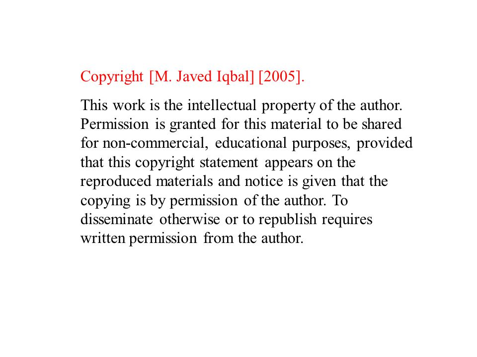 Copyright [M. Javed Iqbal] [2005]. This work is the intellectual property of the author.