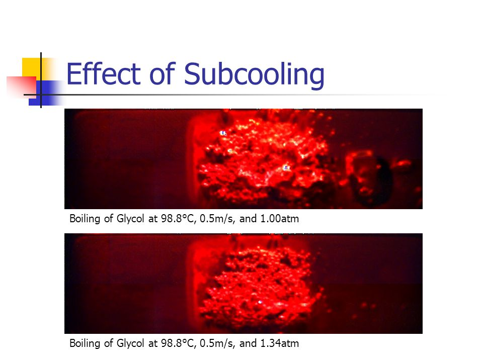 Boiling of Glycol at 98.8°C, 0.5m/s, and 1.00atm Boiling of Glycol at 98.8°C, 0.5m/s, and 1.34atm