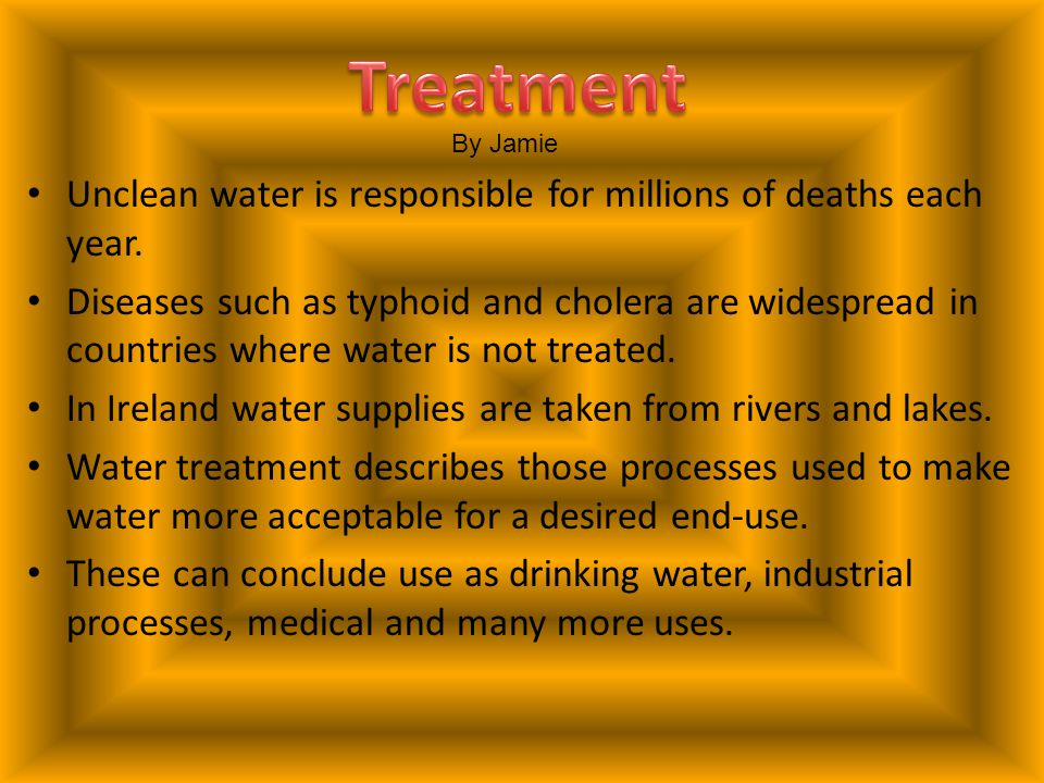 Unclean water is responsible for millions of deaths each year.