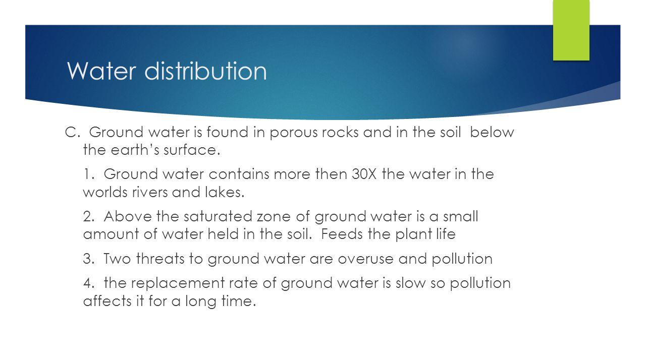 Water distribution C.