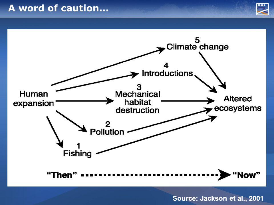 A word of caution… Source: Jackson et al., 2001