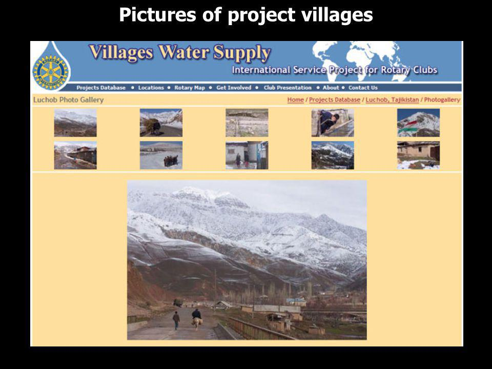 Pictures of project villages