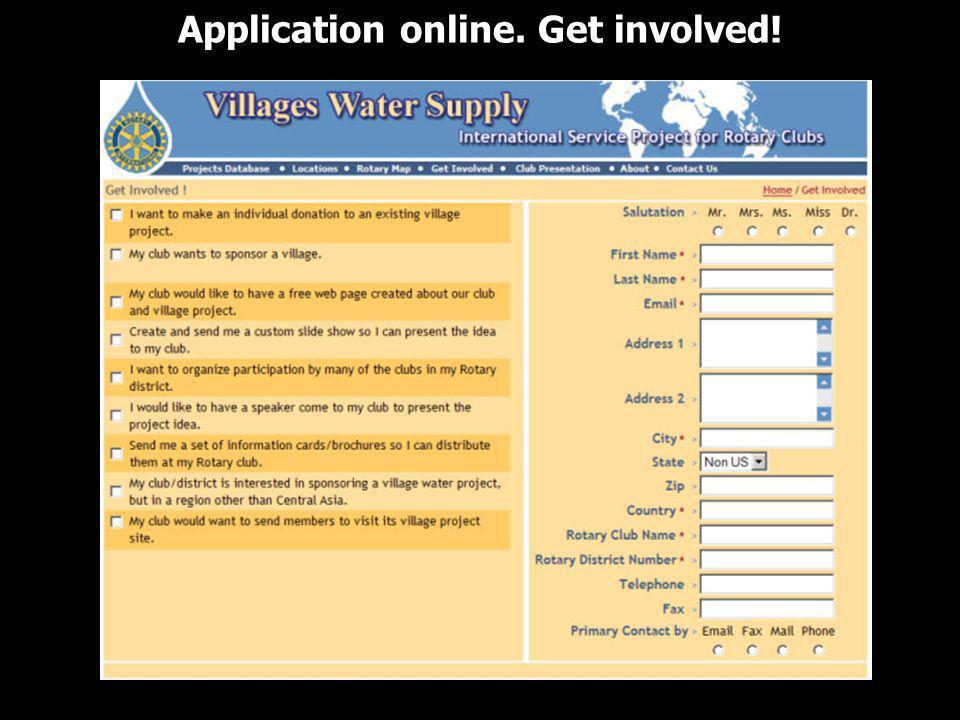 Application online. Get involved!