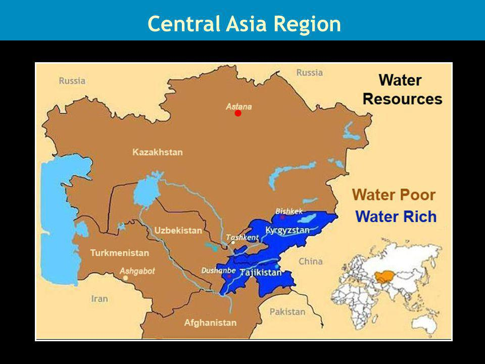 Central Asia Region Water Resources Central Asia Region
