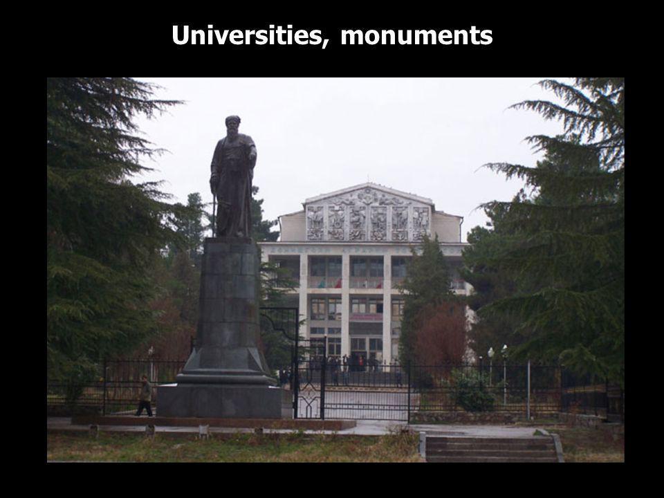 Universities, monuments