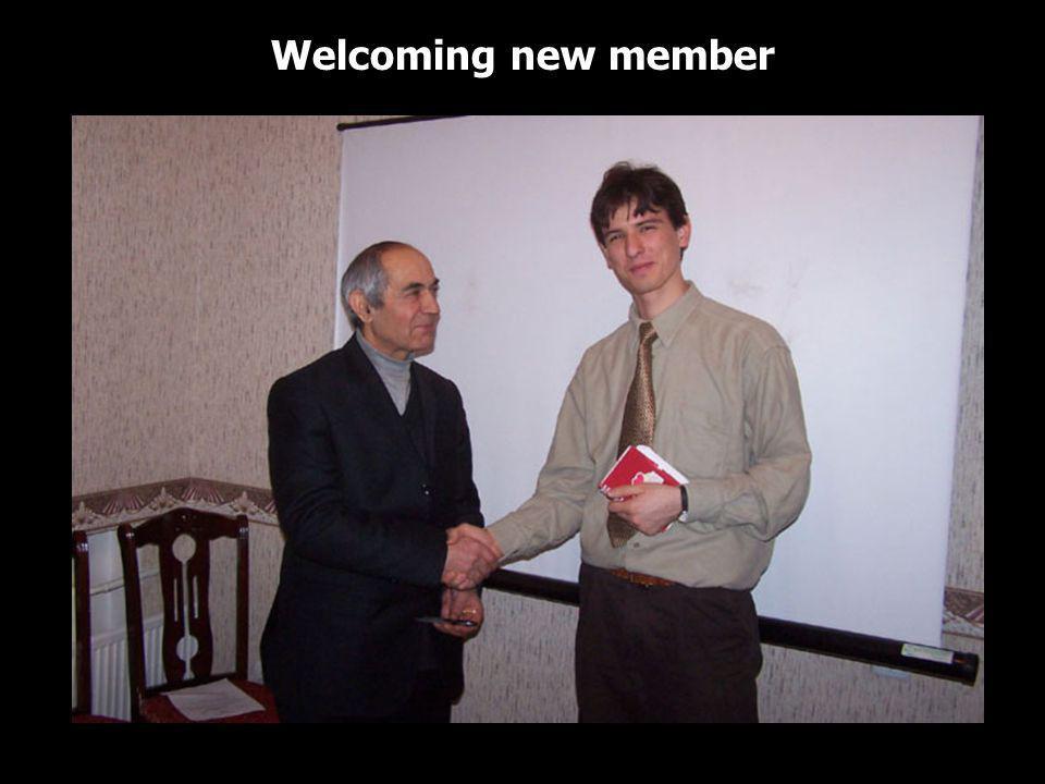 Welcoming new member