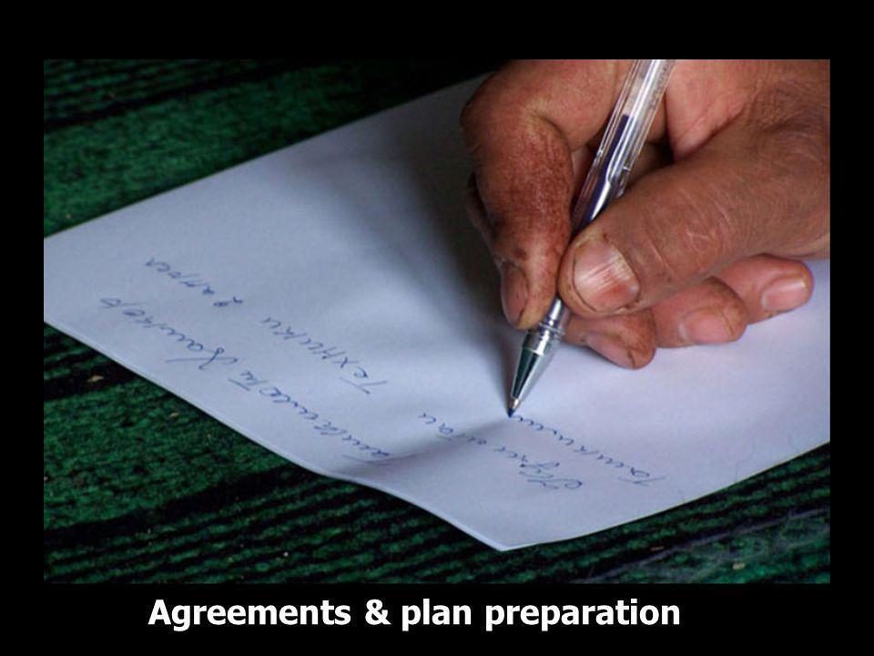 Agreements & plan preparation