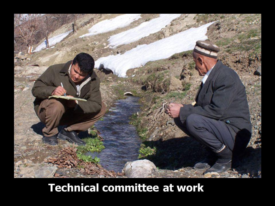 Technical committee at work