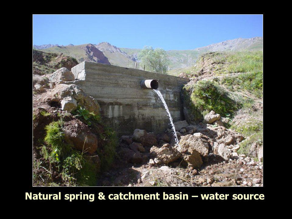 Natural spring & catchment basin – water source