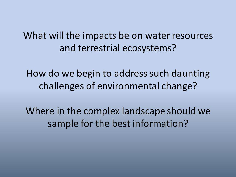 What will the impacts be on water resources and terrestrial ecosystems.