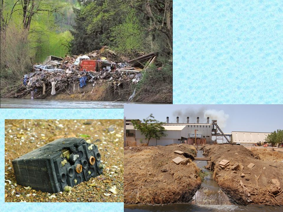 Associated problems: - lead in drinking water - old houses containing lead plumbing - mercury poisoning – metallic mercury is dangerous when inhaled but less dangerous when swallowed as most of it passes out of body within a few days.