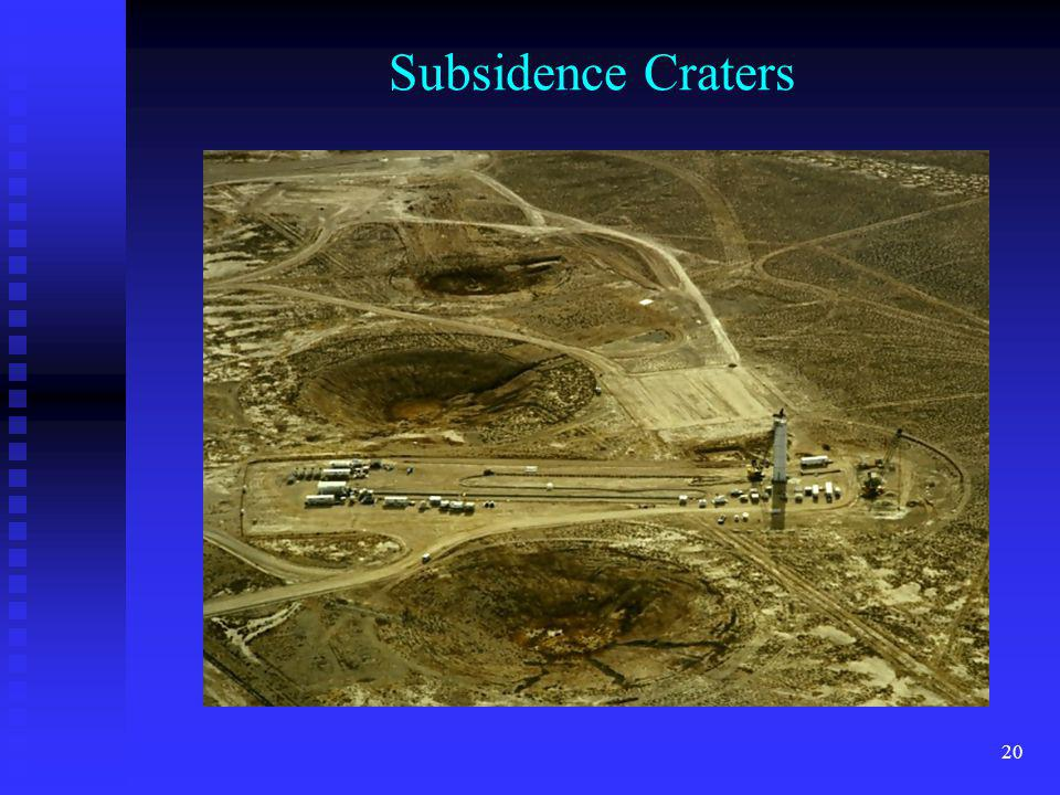 20 Subsidence Craters