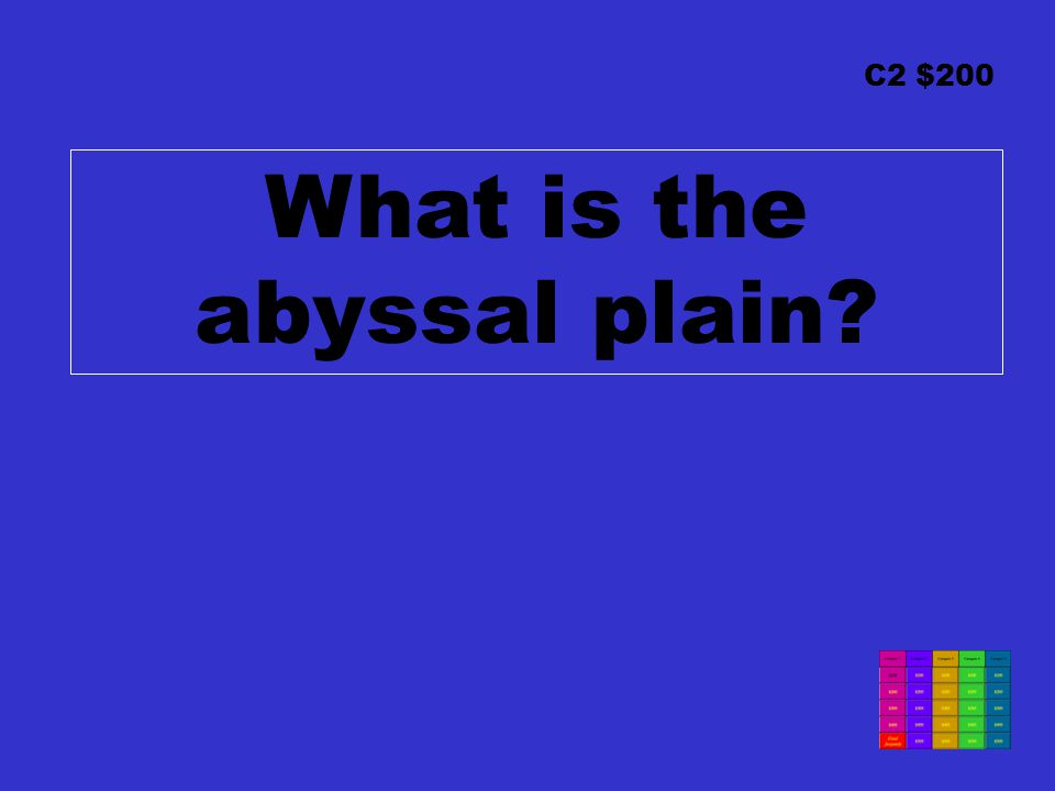 C2 $200 What is the abyssal plain
