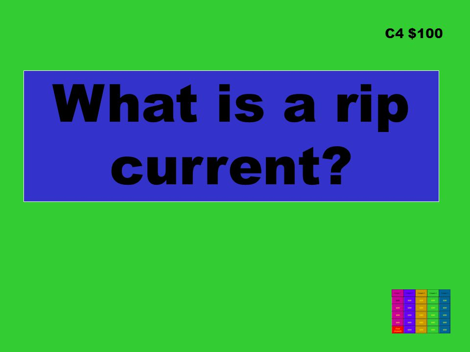 C4 $100 What is a rip current