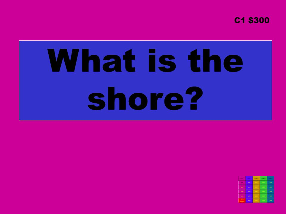 What is the shore C1 $300