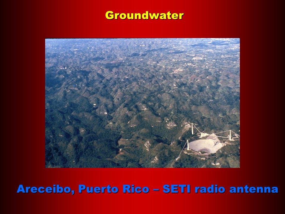 Groundwater Areceibo, Puerto Rico – SETI radio antenna
