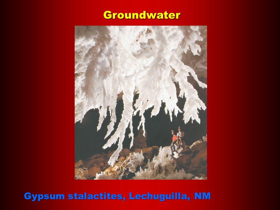 Groundwater Gypsum stalactites, Lechuguilla, NM