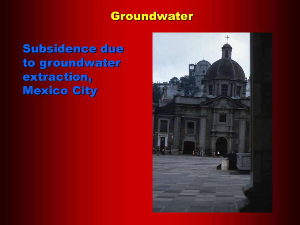 Groundwater Subsidence due to groundwater extraction, Mexico City