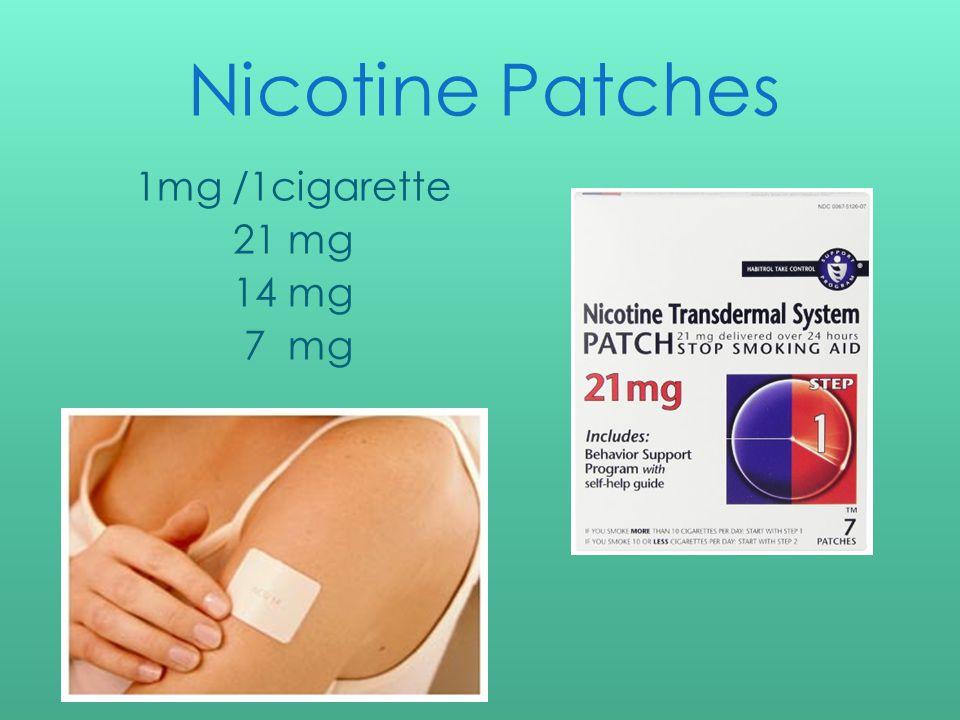 Nicotine Patches 1mg /1cigarette 21 mg 14 mg 7 mg