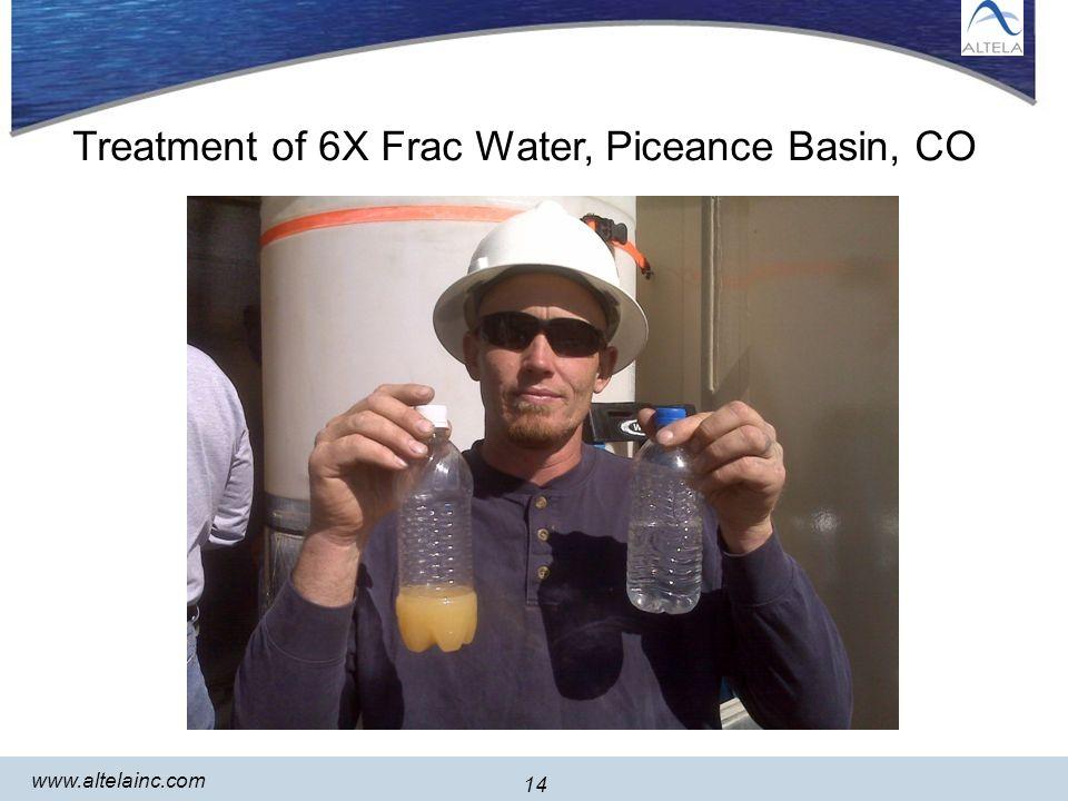 14 www.altelainc.com 14 Treatment of 6X Frac Water, Piceance Basin, CO