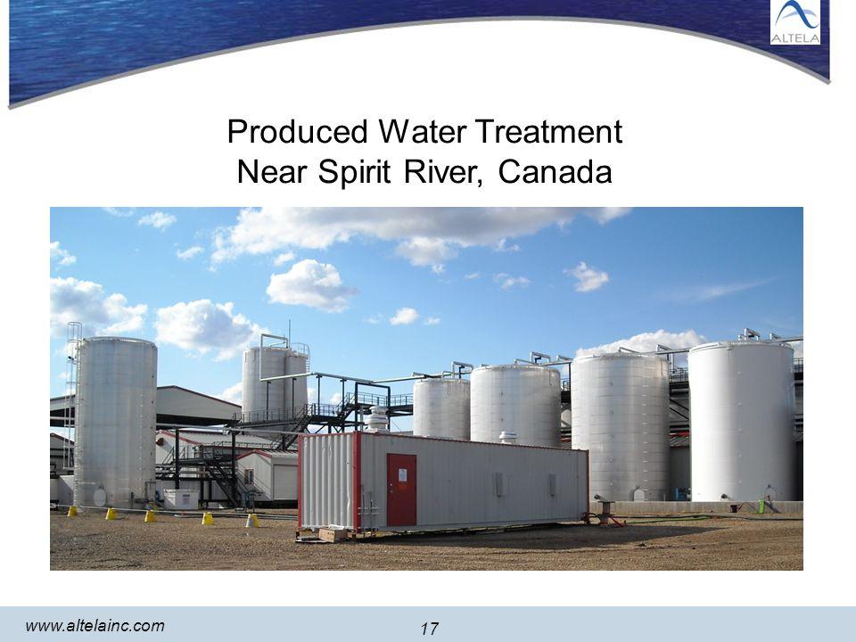 17 www.altelainc.com 17 Produced Water Treatment Near Spirit River, Canada