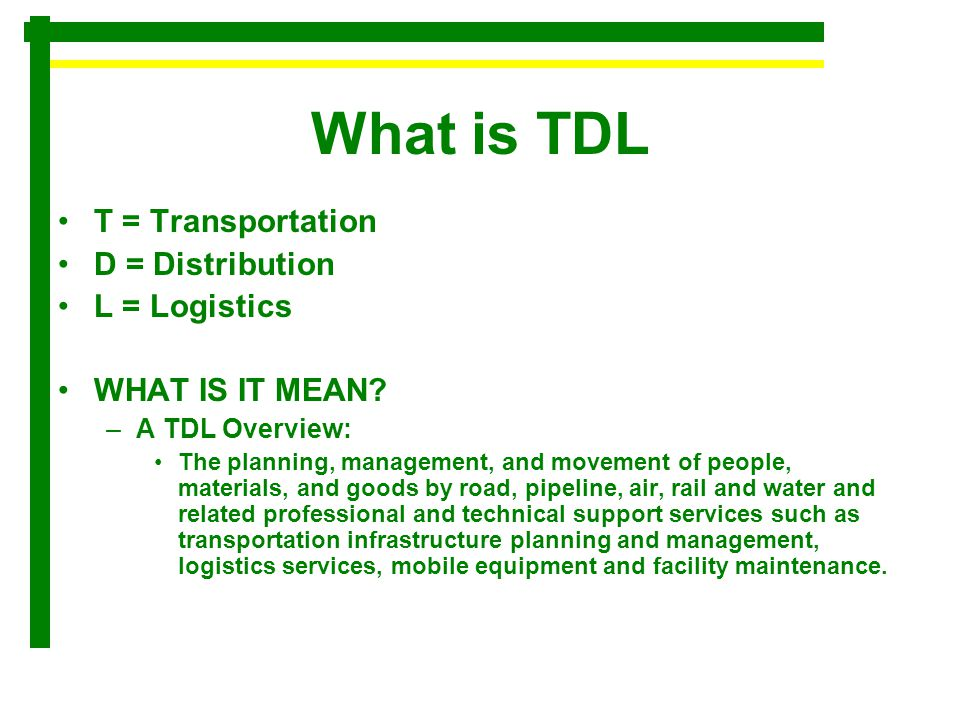 What is Transportation Transportation: –the movement of people or products form one place to another.