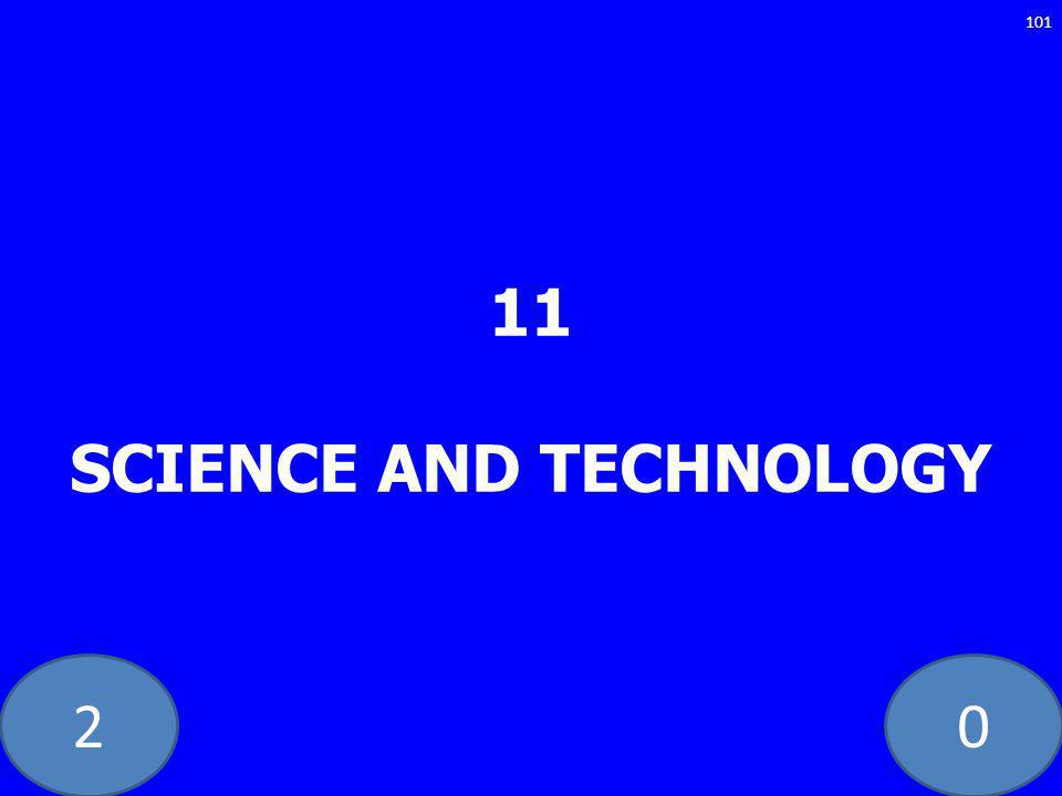 20 11 SCIENCE AND TECHNOLOGY 101