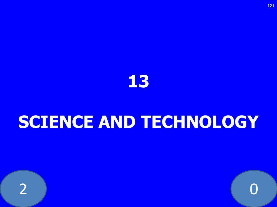 20 13 SCIENCE AND TECHNOLOGY 121