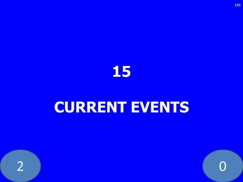 20 15 CURRENT EVENTS 141
