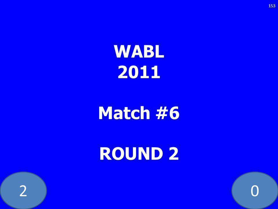 20 WABL 2011 Match #6 ROUND 2 153