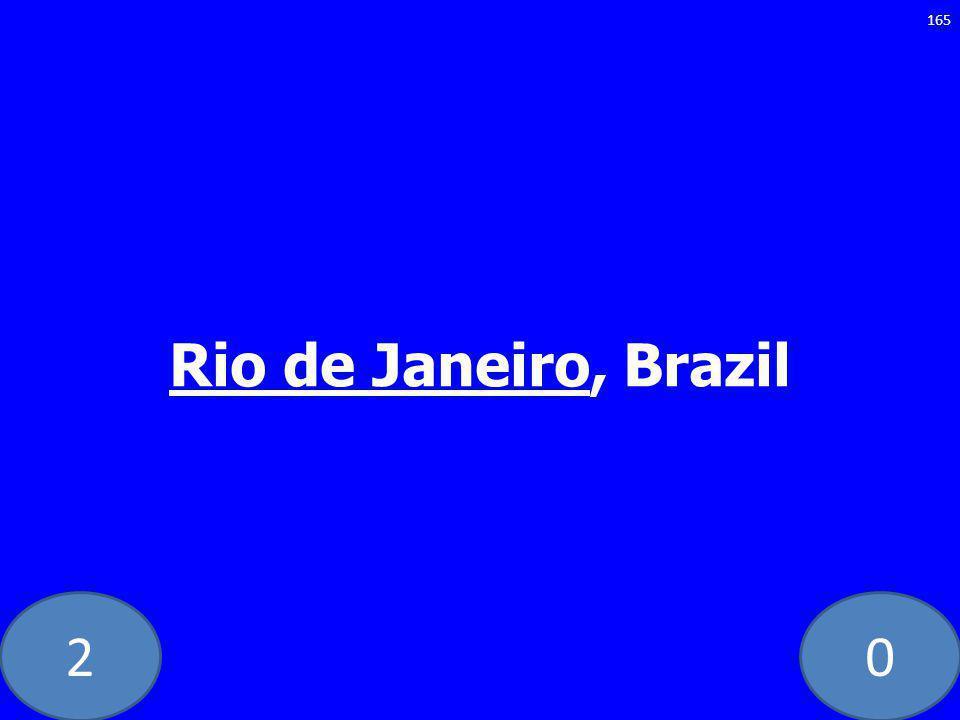 20 Rio de Janeiro, Brazil 165