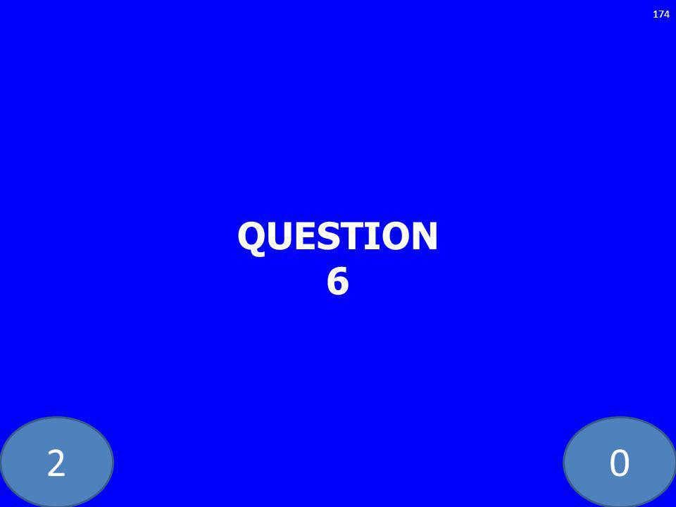 20 QUESTION 6 174