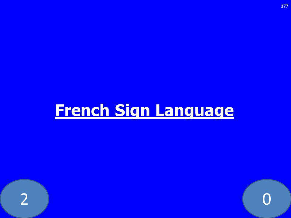 20 177 French Sign Language