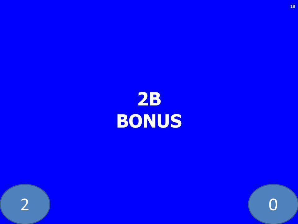 20 2B BONUS 18