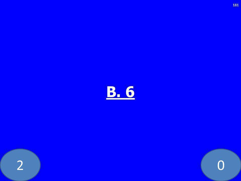 20 B. 6 181