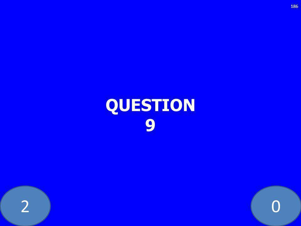 20 QUESTION 9 186