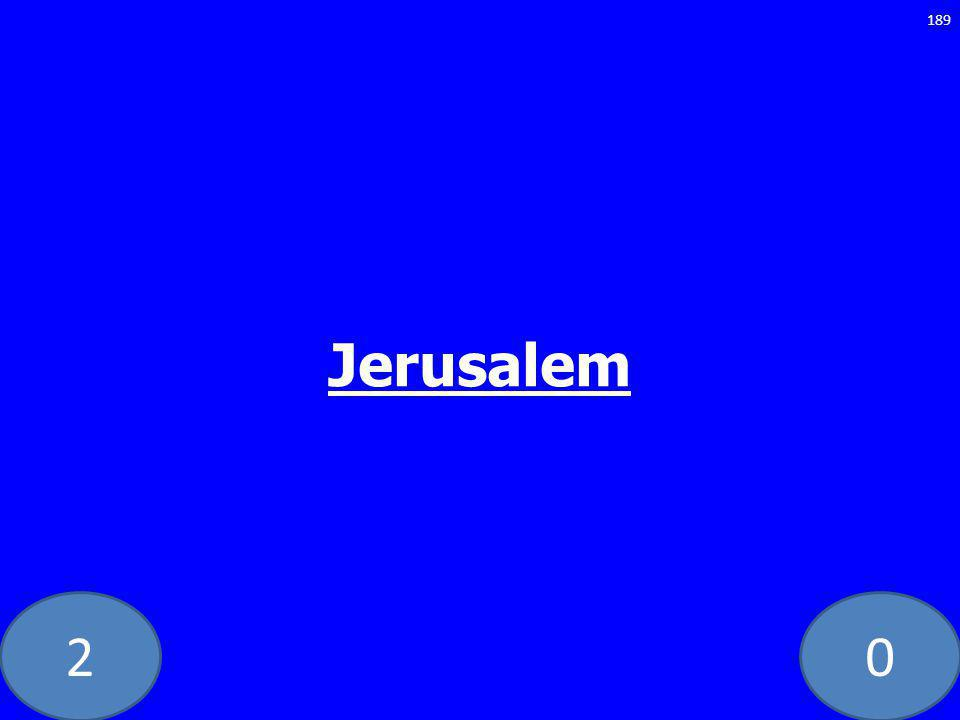 20 Jerusalem 189
