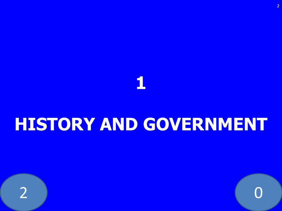 20 1 HISTORY AND GOVERNMENT 2