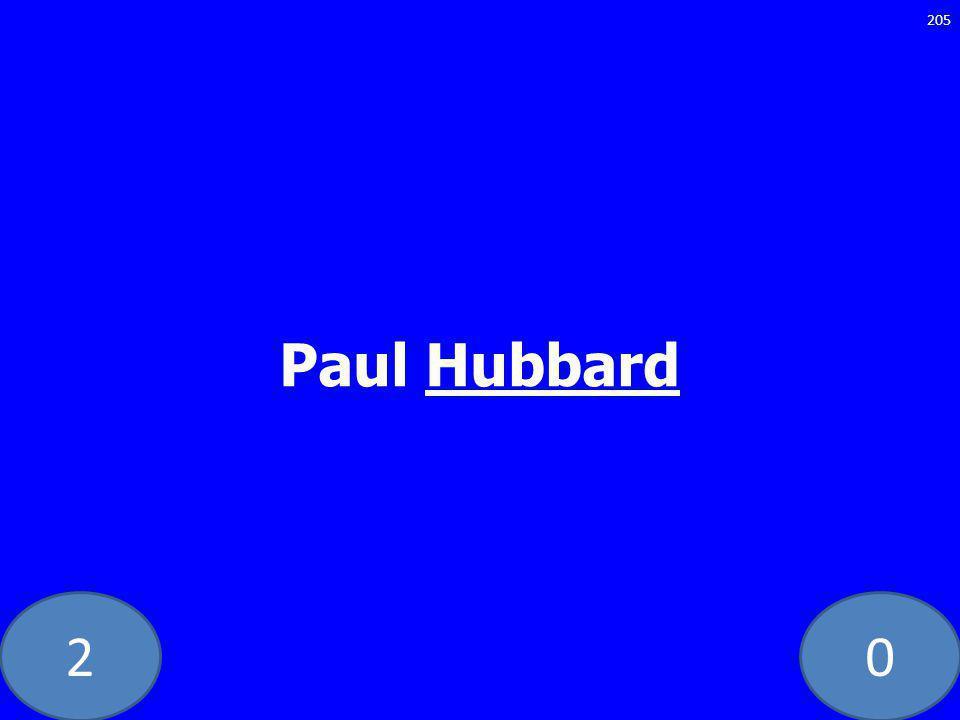 20 Paul Hubbard 205
