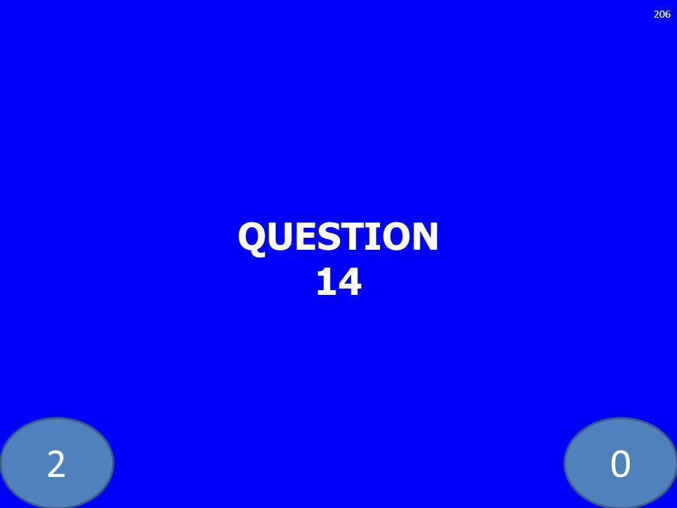 20 QUESTION 14 206