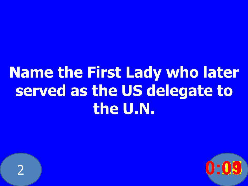 20 Name the First Lady who later served as the US delegate to the U.N.